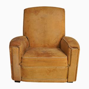 French Leather Club Chair, 1950s