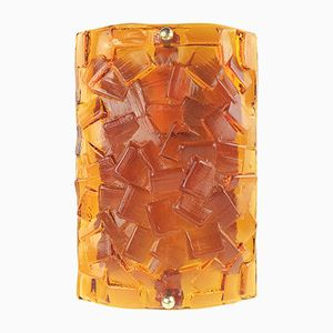 Orange Glass Sconce from Vitrika, 1960s