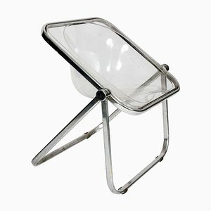 Plia Clear Folding Chair by Giancarlo Piretti, 1960s