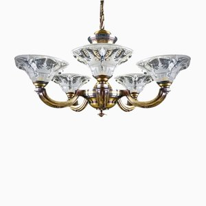 French Art Deco Chandelier by Boris Lacroix