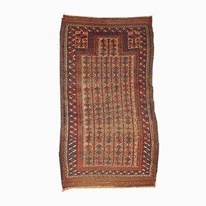 Handgemachter Antiker Afghanischer Baluch Gebetsteppich, 1880er