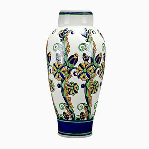 Large Art Deco Vase by Charles Catteau for Boch Frères, 1927