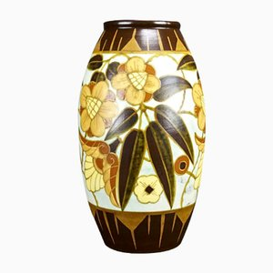 Art Deco Vase by Charles Catteau for Boch Freres, 1934