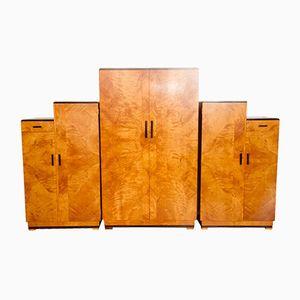 Art Deco Kleiderschrank Set