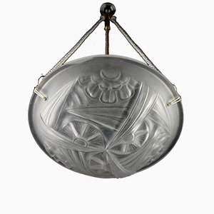 Französischer Art Deco Kronleuchter von David Gueron für Degué, 1920er