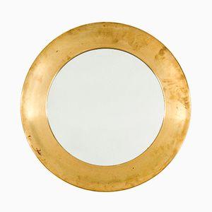 Specchio Mid-Century in ottone di Markaryd
