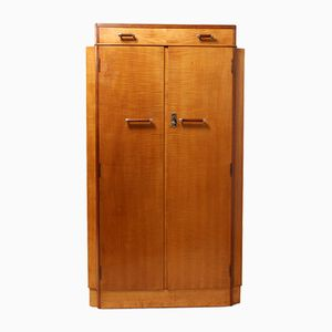Art Deco Satin Birch Cabinet, 1930s