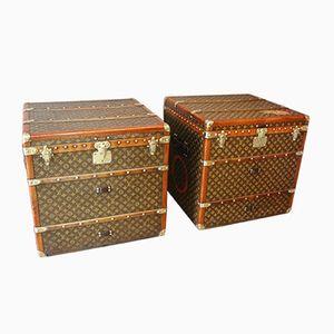 Monogrammierte Vintage Überseekoffer von Louis Vuitton, 2er Set