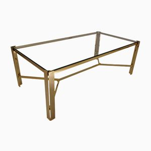 French Gold Colored Coffee Table by Pierre Vandel, 1970s