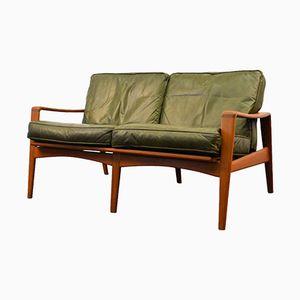 Vintage 2-Seater Teak Sofa von Arne Wahl Iversen für Komfort
