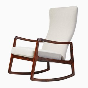 FD-160 Rosewood Rocking Chair by Ole Wanscher for France & Søn, 1950s