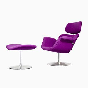Vintage Tulip Lounge Chair & Ottoman by Pierre Paulin for Artifort