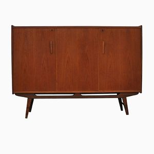 Danish Teak Highboard Cabinet, 1960s
