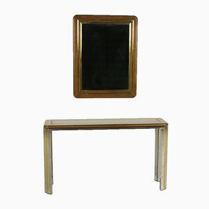 Table Console et Miroir, 1970s