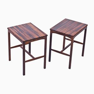 Rosewood Side Tables by Carl Malmsten for Carl Löfving & Co, 1960s, Set of 2