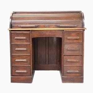 Edwardianischer Schreibtisch mit Rolltür von Jas Shoolbred & Co