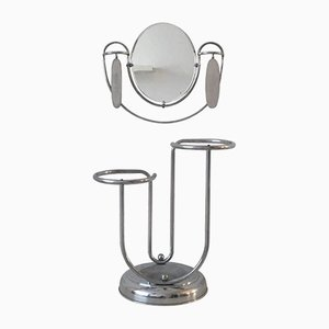 Art Deco Umbrella Stand with Mirror and Brushes, 1920s