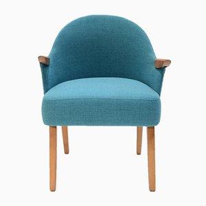 Blauer Vintage Sessel, 1950er