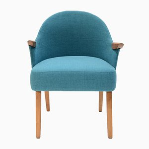 Small Vintage Blue Armchair, 1950s