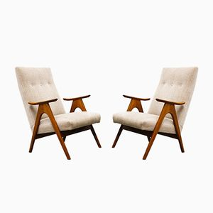 Mid-Century Dutch Lounge Chairs by Louis van Teeffelen for Webe, 1960s