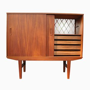 Vintage Danish Highboard in Teak, 1960s