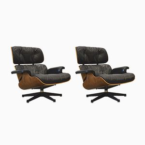 Rosewood Lounge Chairs by Charles & Ray Eames for Herman Miller, 1960s, Set of 2
