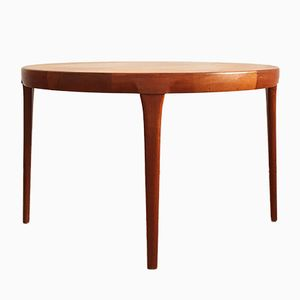 Mid-Century Round Teak Dining Table by Ib Kofod-Larsen for Faarup Møbelfabrik