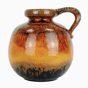 Vintage Vase in Rotbraun von Scheurich
