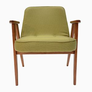 Mid-Century Olive Green 366 Armchair by Jozef Marian Chierowski