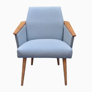 Mid Century Light Blue Polish Armchair