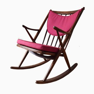 Vintage Teak Rocking Chair by Frank Reenskaug for Bramin Møbler