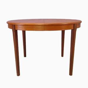 Scandinavian Teak & Rosewood Extendable Dining Table