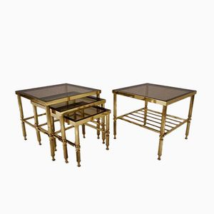 Vintage French Nesting Tables, Set of 4