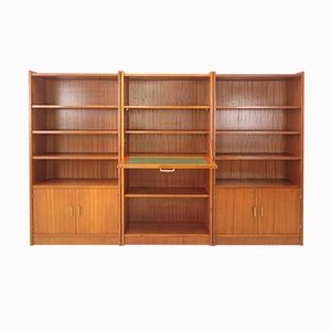 Vintage Library Bookshelf Ensemble, 1950s, Set of 3