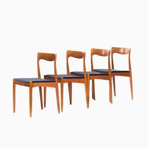 Dänische Teak Esszimmerstühle von Arne Vodder für Vamo Sonderborg, 4er Set
