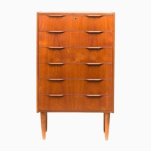 Danish Teak Veneer Chest of Drawers