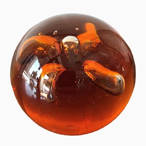 Mid-Century Murano Glass Spherical Paperweight, 1960s