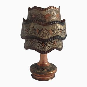 Etched Copper Table Lamp, 1950s