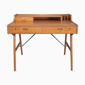 Mid-Century Danish Teak Desk Model No 65 by Arne Wahl Iversen, 1956