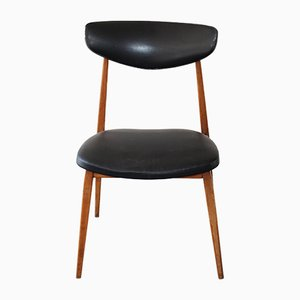 Scandinavian Chair in Black, 1960s