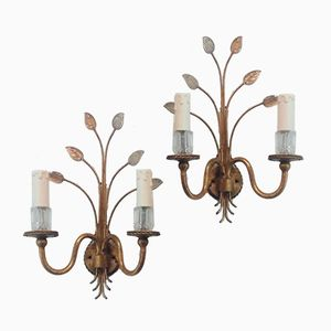 Wall Lights from Maison Bagues, 1960s, Set of 2