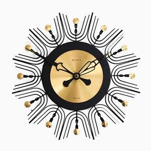 Horloge Murale en Laiton de Weimar, Allemagne, 1960s