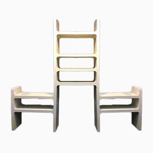 Italian Modular Plastic Shelf by Desiro Varidani, 1960s