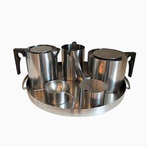 Dänisches Cylinda Teeservice von Arne Jacobsen für Stelton, 1960er