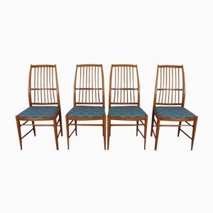 Mid-Century Napoli Stühle von David Rosén für Nordiska Kompaniet, 4er Set