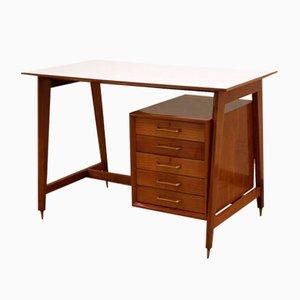 Kleiner Obstholz Schreibtisch, 1950er