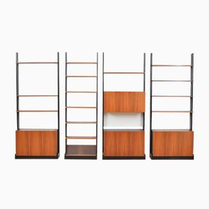 Mid-Century Wall Unit by Dieter Wäckerlin for Idealheim