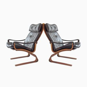 Kangoo Lounge Chairs by Oddvin Rykken, 1970s, Set of 2