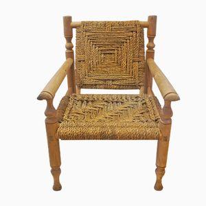 Woven Sisal Armchair, 1950s