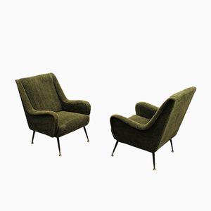 Italienische Mid-Century Sessel von Minotti, 2er Set
